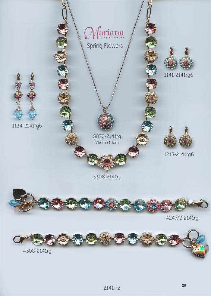 Mariana Jewelry Nature Catalog Swarovski Bracelets, Earrings, Necklaces, Rings Spring Flowers Multi Color Colorful Page 2