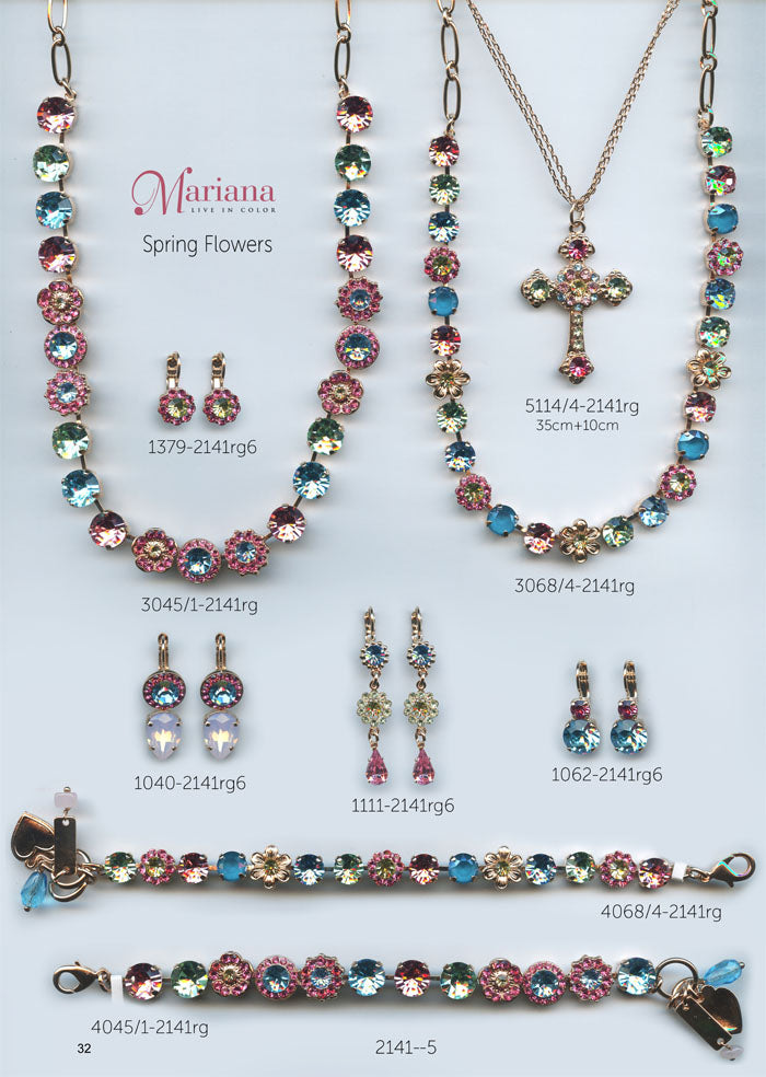 Mariana Jewelry Nature Catalog Swarovski Bracelets, Earrings, Necklaces, Rings Spring Flowers Multi Color Colorful Page 3