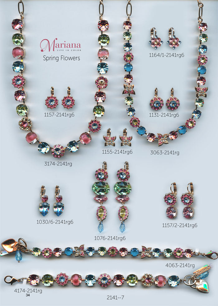 Mariana Jewelry Nature Catalog Swarovski Bracelets, Earrings, Necklaces, Rings Spring Flowers Multi Color Colorful Page 4