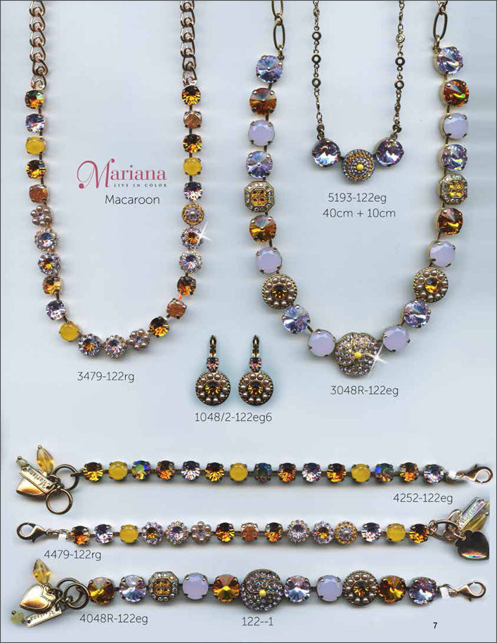 Mariana Jewelry The Sweet Life Bracelets Earrings Necklaces Rings Catalog Macaroon Yellow Lavender Page 7