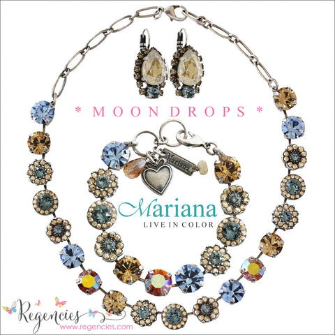 Mariana Blue Colorado Champagne Plated Swarovski Crystal Jewelry