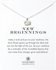 Dogeared New Beginnings Lotus Necklace