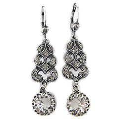 Catherine Popesco La Vie Parisienne Swirl Cascade Crystal Drop Earrings