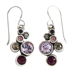 "Patricia Locke ""Splash"" Sterling Silver Plated Earrings, Purple Rain EF0685S"