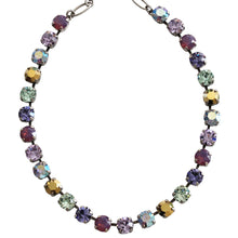 "Mariana Silver Plated Classic Shapes Swarovski Crystal Necklace, 17.5"" Iris 3252 1327"