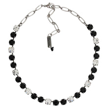 "Mariana Checkmate Silver Plated Classic Shapes Swarovski Crystal 17.5"" Necklace, 3252 280-1"