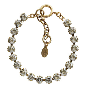 "Catherine Popesco 14k Gold Plated Crystal Tennis Bracelet, 7.5"" 1694G Shade"