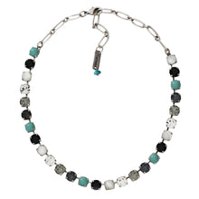 "Mariana ""Zanzibar"" Silver Plated Classic Shapes Swarovski Crystal Necklace, 17.5"" 3252 M1081"
