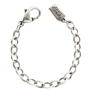 "Patricia Locke 3"" Sterling Silver Plated Link Chain Necklace Extender w/ Lobster Clasp"