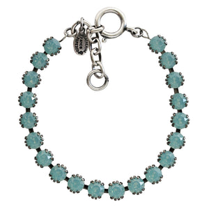 "Catherine Popesco Sterling Silver Plated Crystal Tennis Bracelet, 7.5"" 1694 Pacific Opal"