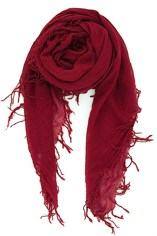 Chan Luu Cashmere and Silk Scarf Wrap - Biking Red BRH-SC-140