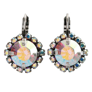 Mariana On A Clear Day Silver Plated Cushion Crystal Border Swarovski Earrings, 1137/1 001AB