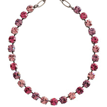 "Mariana Silver Plated Classic Shapes Swarovski Crystal Necklace, 17.5"" Pink 3252 2230"