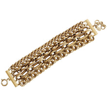 "Catherine Popesco 14k Gold Plated 5 Multi Strand Chain Bracelet, 7.75"" 1620G"
