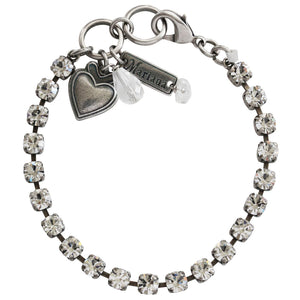 "Mariana Silver Plated 5mm Petite Classic Tennis Swarovski Crystal Bracelet, 7"" On A Clear Day 4000 001001"