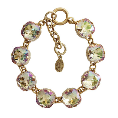 Catherine Popesco 14k Gold Plated Crystal Round Bracelet,  1696G Luminescent