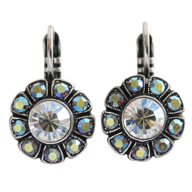 Mariana Silver Plated Sunflower Swarovski Crystal Earrings, Moonlight 1131 512