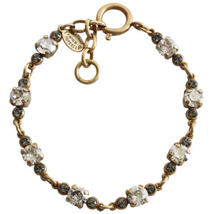 "Catherine Popesco 14k Gold Plated Petite Crystal Bracelet, 7-8"" 1684G Shade"