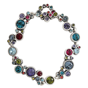 "Patricia Locke Ovation Sterling Silver Plated Bracelet, 7.25"" Celebration BR0336S"