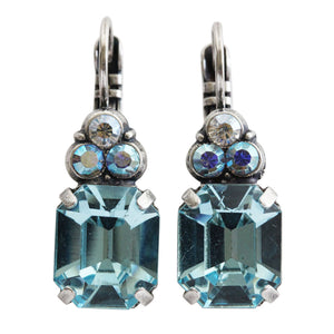 "Mariana ""Italian Ice"" Silver Plated Rectangle Cushion Cluster Swarovski Crystal Earrings, 1014 141"