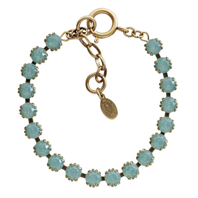 Catherine Popesco 14k Gold Plated Crystal Tennis Bracelet, 1694G Pacific Opal