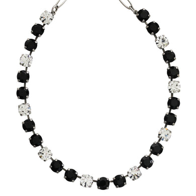 Mariana Checkmate Silver Plated Classic Shapes Swarovski Crystal 17.5