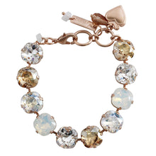 "Mariana Kalahari Rose Goldtone Large Cushion Statement 12mm Crystal Bracelet, 7"" 4326/2 1078mr"