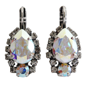 "Mariana ""On A Clear Day"" Silver Plated Teardrop Surrounding Crystal Earrings, 1259/1 0011AB"