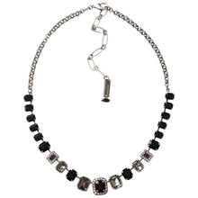 "Mariana Silver Plated Rectangular Baguette Swarovski Crystal Necklace, 21"" Tuxedo 3040/8 3701"