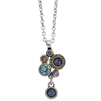 Patricia Locke Balancing Act Sterling Silver Plated Necklace, 16.5