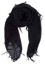 Chan Luu Cashmere and Silk Scarf Wrap - Black BRH-SC-140