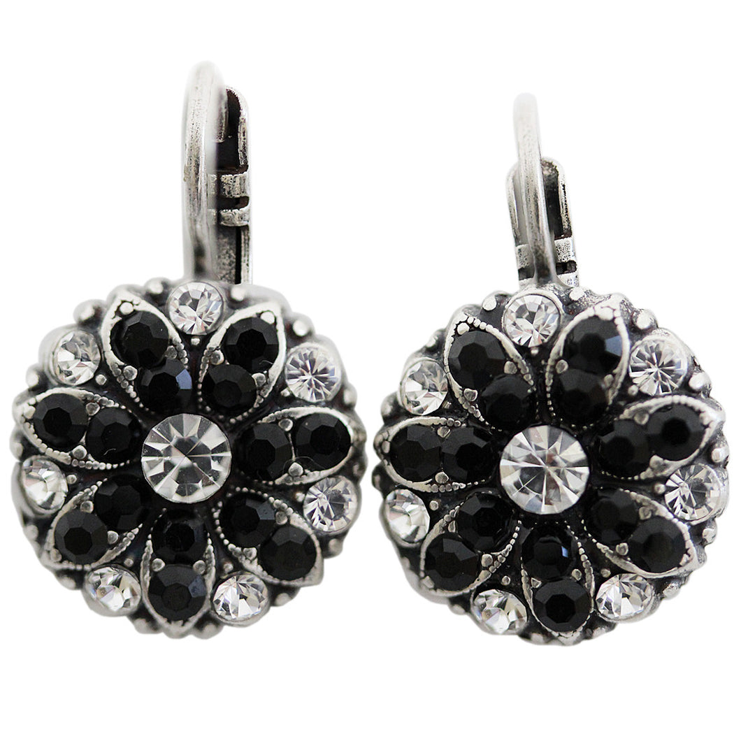 Mariana Silver Plated Flower Blossom Swarovski Crystal Earrings, Checkmate 1029 280-1
