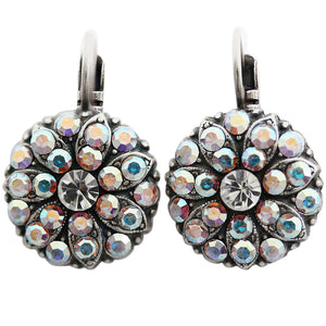 Mariana Silver Plated Flower Blossom Swarovski Crystal Earrings, Crystal AB 1029 001AB