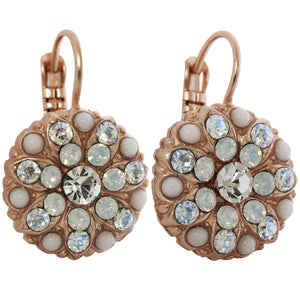 Mariana Rose Gold Plated Flower Blossom Swarovski Crystal Earrings, Forever 1029 5087mr