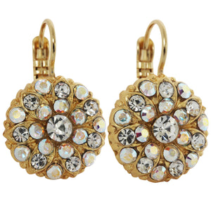 Mariana Gold Plated Flower Blossom Swarovski Crystal Earrings, Crystal AB 1029 001AByg