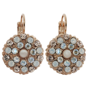 "Mariana ""Kalahari"" Rose Gold Plated Flower Blossom Swarovski Crystal Earrings, 1029 1078mr"