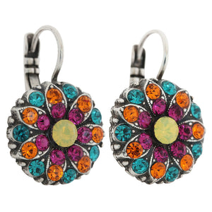 Mariana Masai Silver Plated Flower Blossom Swarovski Crystal Earrings, 1029 1077