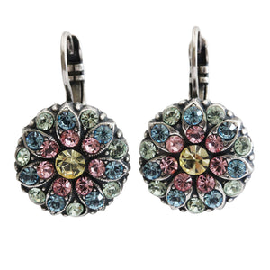"Mariana ""Spring Flowers"" Silver Plated Flower Blossom Swarovski Crystal Earrings, Pastel 1029 2141"