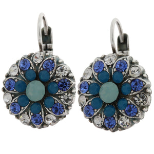 Mariana Silver Plated Flower Blossom Swarovski Crystal Earrings, Zhang 1029 1041