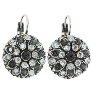 "Mariana ""Zulu"" Silver Plated Flower Blossom Swarovski Crystal Earrings, 1029 1080"