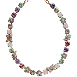"Mariana Rose Gold Plated Butterfly Garden Swarovski Crystal Necklace, 14"" + 5"" Extender Pina Colada 3414/2 1063mr"