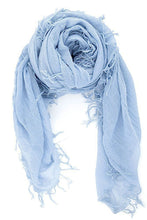Chan Luu Cashmere and Silk Scarf Wrap - Cashmere Blue BRH-SC-140