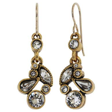 Patricia Locke Cherish Gold Plated Earrings, All Crystal EF0804G