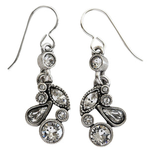 "Patricia Locke ""Cherish"" Sterling Silver Plated Earrings, All Crystal EF0804S"