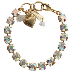 "Mariana Gold Plated Classic Shapes Swarovski Crystal Bracelet, 7"" Crystal AB 4252 001AByg"