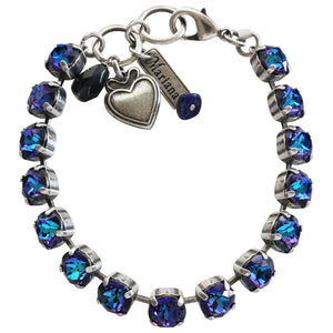 "Mariana ""Happy Hour"" Silver Plated Classic Shapes Swarovski Crystal Bracelet, 4252 108108"