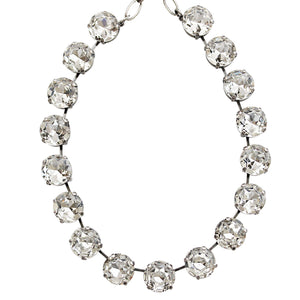 "Mariana Silver Plated Statement Classic Shapes Swarovski Crystal Necklace, 18.5"" On A Clear Day 3438 001001"
