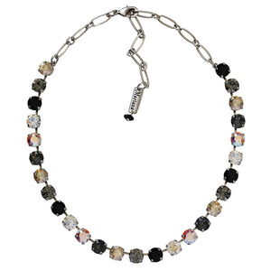 "Mariana ""Adeline"" Silver Plated Classic Shapes Swarovski Crystal 17.5"" Necklace, 3252 1094"