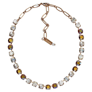 "Mariana ""Aurora"" Rose Gold Plated Classic Shapes Swarovski Crystal Necklace, 17.5"" 3252 M1093rg"