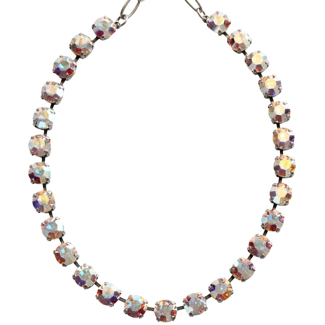 Mariana Silver Plated Classic Shapes Swarovski Crystal Necklace, 18